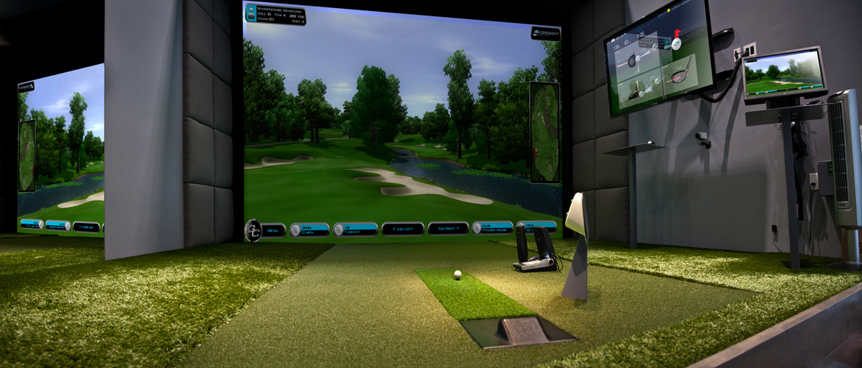 Best premium golf simulator home commercial golf for Indoor golf design